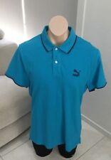 PUMA Mens Sport Lifestyle T Shirt Sports Golf Top Blue Size XL [MT1]