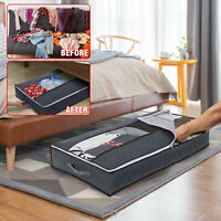 Under Bed Storage Bag High Capacity Foldable Design with Transparent Window