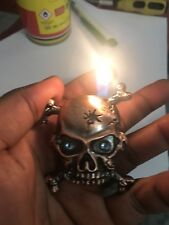 Metal cigarett gas lighter  Key Ring style  Flame Wind proof