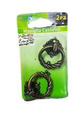 Set 2 Pezzi Maniglie Pomelli Effetto Antico Bronzo Mobili Cassetti Vintage dfh