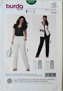 Burda Style 6952 Womens Plus Dress Pants Hose Pantalon Sewing Pattern Sz 18-34