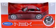 Welly MERCEDES BENZ SLS AMG In Dkl. ROSSO scala 1:43 NUOVO & OVP
