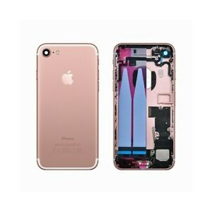 BACK COVER SCOCCA POSTERIORE CASE CHASSIS IPHONE 7 ROSE GOLD ROSA 100% QUALITA'.