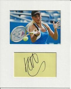Tatiana Golovin tennis signed genuine authentic autograph signature AFTAL COA