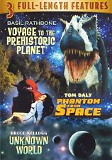NEW DVD 3-in-1 Voyage to Prehistoric Planet / Phantom from Space / Unknown World