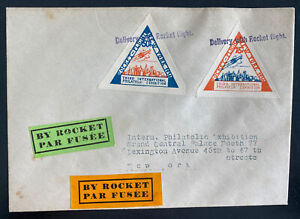1936 Canada First Rocket Mail Flight Cover to New York Usa Third Philatelic Exhi