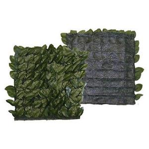 Siepe artificiale foglie lauro con rete in pvc verde 1,5x3 mt sintetica esterno