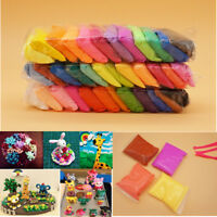 12 24 36 Colors Ultra Light Clay Air Dry Clays Dough Plasticine DIY Model & Tool
