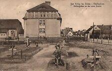 17/ Foto AK, Stallupönen Opr. Soldatengräber, Schule, 1918
