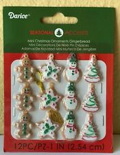 "Miniature Dollhouse Mini CHRISTMAS Tree ~ 12 Asst 1"" Sugar Gingerbread Ornaments"