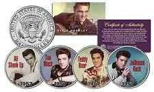 ELVIS PRESLEY 1957 #1 SONG HITS JFK Half Dollar 4-Coin Set - Officially Licensed
