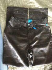 """Christian Lacroix JEANS Satin Trousers Script Squiggles Design Size 30-32""""waist"""