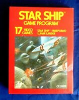 Atari 2600 Sears Tele-Games Starship Game Cartridge In Original Box With Manual