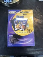 S505 media Fellowes DVD or game or cd blank Cases 83357 5 Pack SEALED
