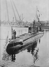 German Navy Submarine UC 5 Captured 1916 World War 1 7x5 Inch Reprint Photo