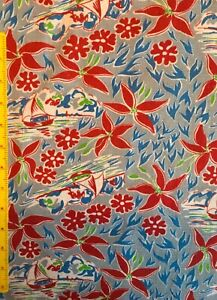 Vintage cotton Feedsack fabric 1930s/1940s. Lovely condition. Rare!