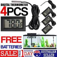 4X LCD DIGITAL THERMOMETER for Fridge/Freezer/Aquarium/FISH TANK Temperature AU