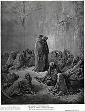 PURGATORIO: TRA LE ANIME DEGLI INVIDIOSI.Gustave Doré.Dante.Divina Commedia.1880