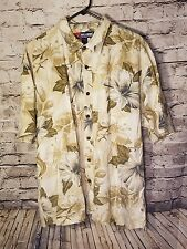 Reel Legends men's shirt XXL Hawaiian Short sleeve Button up Floral Fish