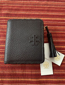NWT Tory Burch Taylor Leather Mini Wallet , Black 52722 1018