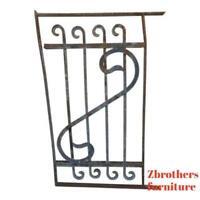 Antique Victorian Iron Gate Window Garden Fence Architectural Salvage Door #640