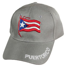 Puerto Rico Flag 3d Puff Embroidery New Baseball Hat Cap Adjustable