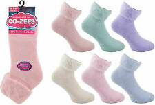 Ladies Thermal Bed Socks For Warm Cosy Feet Brushed Warmth Size 4-8