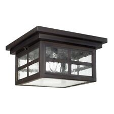 Capital Lighting Preston 3 Light Ceiling, Old Bronze, Antique Glass - 9917OB