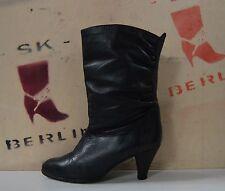 Damenstiefel gefüttert Boots TRUE VINTAGE Winter Stiefel bottes schwarz black