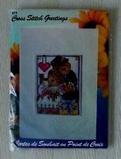 CROSS STITCH Design Works Greeting CARD WEDDING BEARS Kit BRIDE GROOM