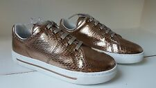 $258 sz 39  Marc By Marc Jacobs Runway Metallic Leather Low Top Sneakers Shoes
