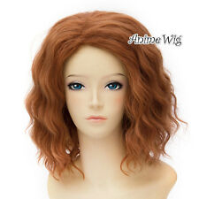 The Avengers Black Widow Orange Curly Short 30CM Women Cospaly Anime Wig