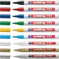Edding 751 Paint Marker Pens - Fine Bullet Tip - Low Odour