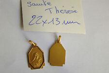 ancienne médaille plaqué or fabrication FRANCE 1960 Sainte Thérèse poinçon