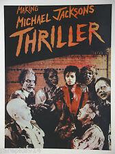 "MICHAEL JACKSON ""  MAKING OF THILLER "" VINTAGE ORIGINAL POSTER"