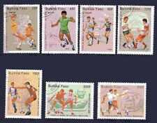 Football Burkina Faso (41) série complète 7 timbres oblitérés