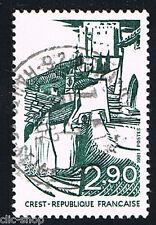 1 FRANCOBOLLO FRANCIA TURISTICA CREST 1981 usato