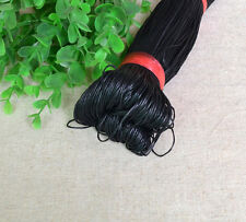Waxed cotton cord~1mm~80m Jewelry making Thread~Braiding Beading~Choose Color