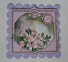 PK 2 HAPPY ANNINVERSARY PINK MAGNOLIA EMBELLISHMENT TOPPERS FOR CARDS AND CRAFTS