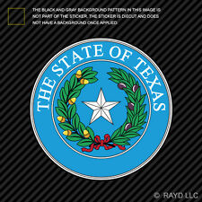 "4"" Texas State Seal Sticker Decal Self Adhesive Vinyl lone star Gods country"