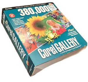 Vintage Software Corel Gallery 380K Vector Clipart Sounds Fonts Windows 95/98