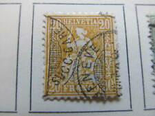 Schweiz Suisse Suiza Switzerland 1862-81 20c fine used stamp A11P22F4