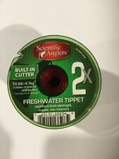 CLOSEOUT 3 SPOOLS PER ORDER SCIENTIFIC ANGLERS FLUOROCARBON TIPPET 2X
