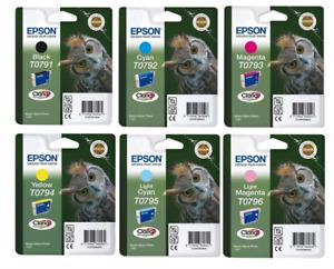 Epson T0791/2/3/4/5/6 Printer Ink Cartridges - Owl Ink, Lot or Individual