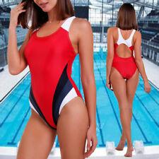 HOT Women Swim Competition Costume One Piece Sports Triangular Swimsuit Swimwear