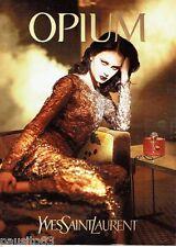 PUBLICITE ADVERTISING 126  2000   Yves Saint Laurent parfum Opium femme