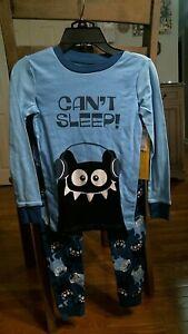 Joe Boxer Boys Pajamas Set, Can't Sleep!, Light/Dark Blue, Size M (8), NWT