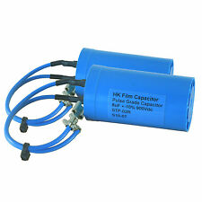 Two x 8uF 900V Pulse Capacitors w/leads for electric fence energisers (CAP030)