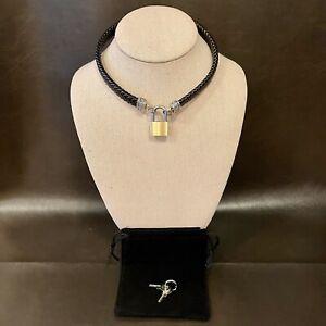 Black leather Choker pendant bdsm symbol logo pendant necklace Bdsm pendant necklace triskele pendant,
