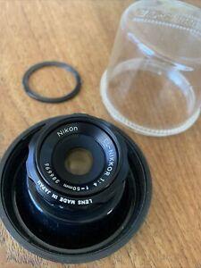 Nikon El Nikkor Enlarging Lens 50mm F4 and Bubble Case, with retainer ring